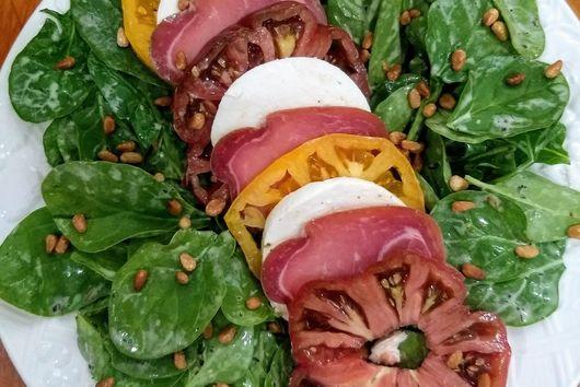 Warm Buffalo Mozzerella Salad