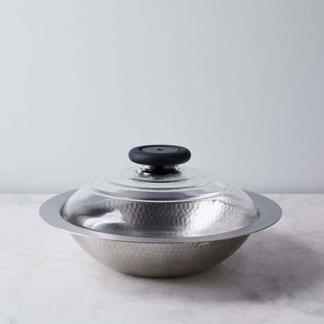 Japanese Stamped Stainless Steel Saucepan with Lid
