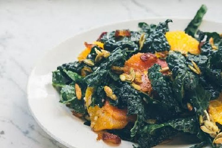 Kale and Citrus Salad with Vanilla Bean Vinaigrette