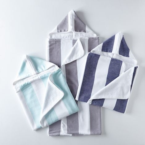 Child's Deck Stripe Hooded Towel