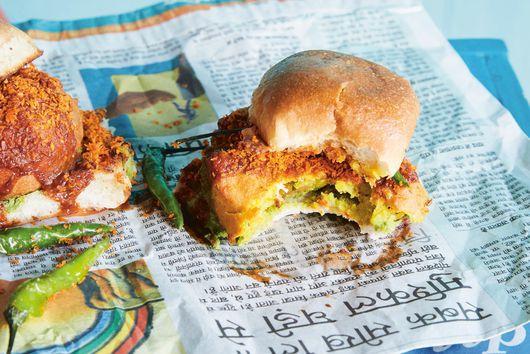 Vada Pav (Potato Fritter Sandwich) From Maneet Chauhan & Jody Eddy