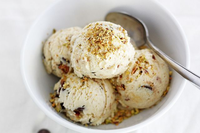 Dark Chocolate Pistachio Ice Cream