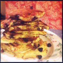 Luscious Yogurt Blueberry Pancakes