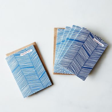 Herringbone Thank You Letterpress Cards (Set of 6)