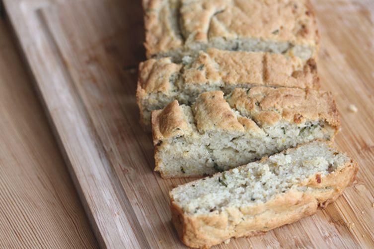 Gluten-free Rosemary Meyer Lemon Quick Bread