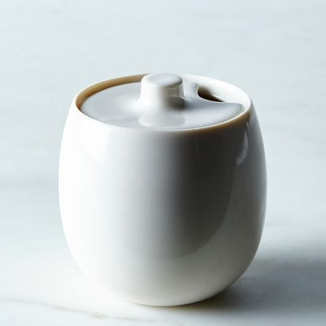 Porcelain Honey Pot