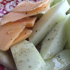 Honey Pepper Apples with Cheese