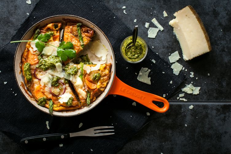 Sweet Potato & Manchego Tortilla with Coriander Mojo
