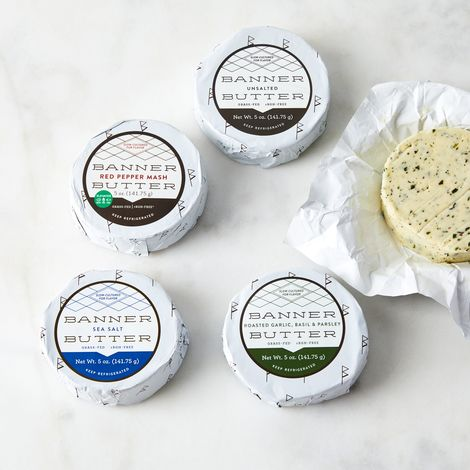 Small Batch Grass-Fed Cultured Cream Butter (Set of 3)