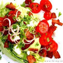 BLT Wedge Salad with Silky-Smooth Creamy Avocado Dressing