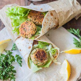 Lemon Tahini Falafel Wrap