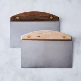Dough Scraper with Wood & Brass Handle