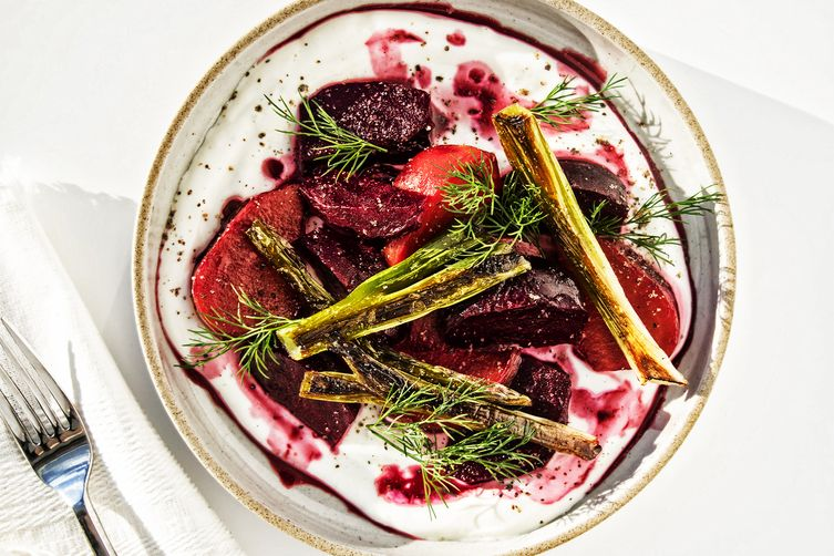 Roasted Beets with Quark