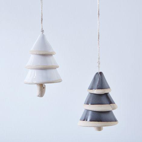Ceramic Tree Bell Ornament