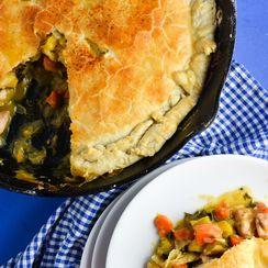 Fall Skillet Chicken Pot Pie