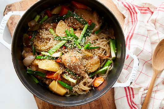 Korean-Style Braised Chicken With Vegetables & Glass Noodles