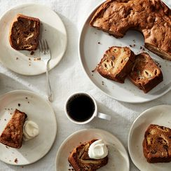 Brown Sugar Apple Cake With Pecans & Dried Figs
