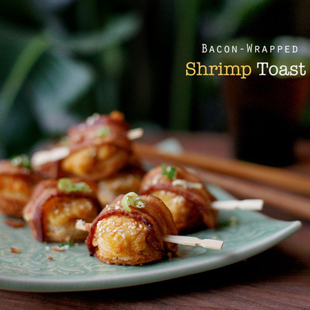 Bacon Wrapped Shrimp Toast Recipe On Food52
