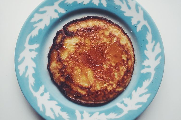 Orange and Vanilla Pancakes with Cinnamon Sugar and Hot Buttered Syrup