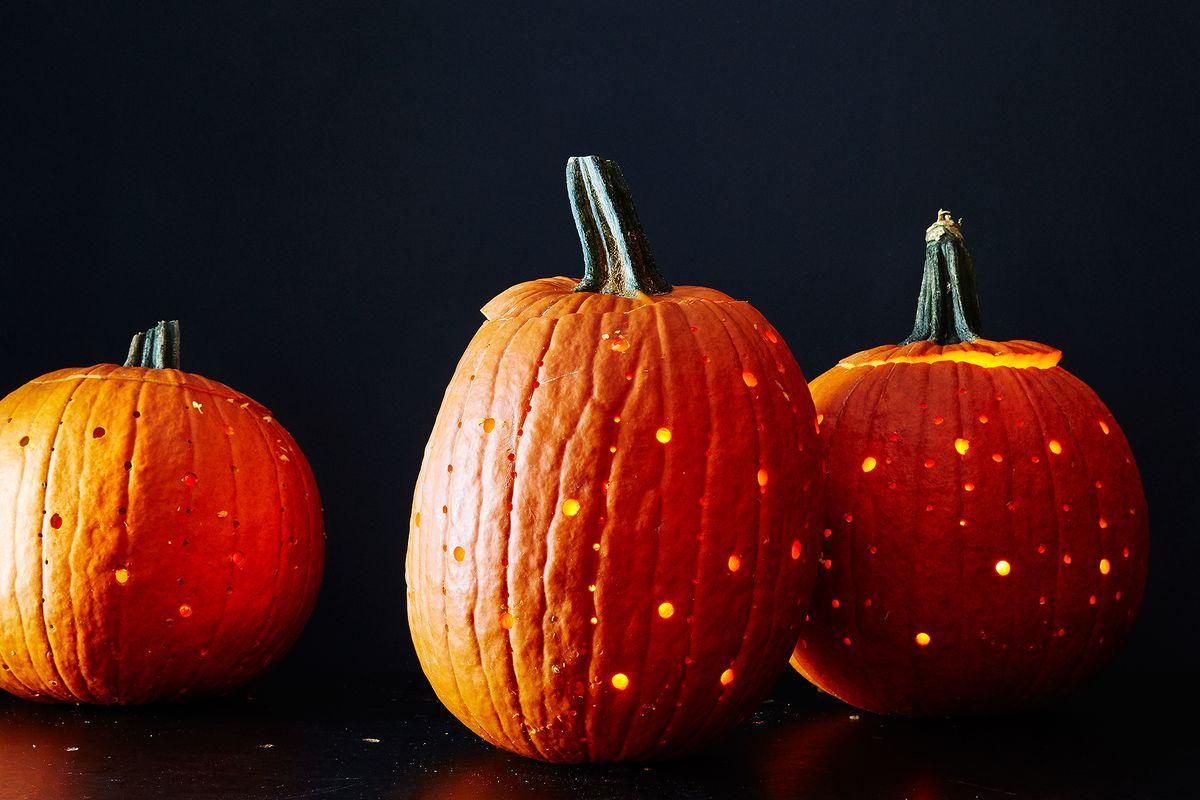 How To Power Drill A Pumpkin Lantern In Half An Hour