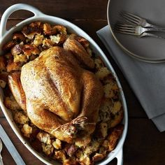 A Roast Chicken that Comes with Croutons