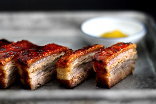 creme brulee pork belly confit