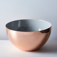 Hawkins New York x Food52 Copper, Brass, and Grey Enamel Louise Bowls