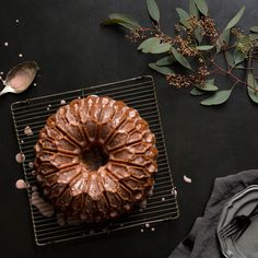 Blood Orange Yogurt Bundt Cake with a Bitters & Bourbon Glaze