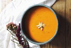 Saffron-Ginger Carrot Soup