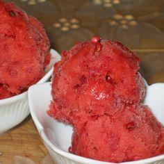Pink Peppercorn-Strawberry Sorbet