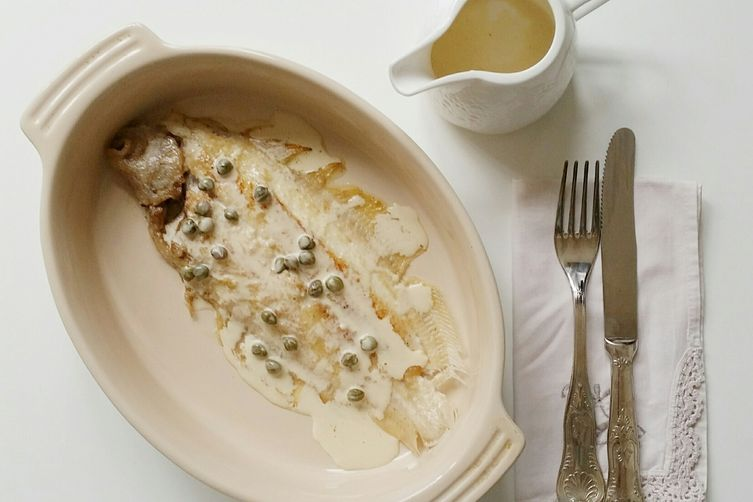 Dover Sole with Cream Sauce and Capers