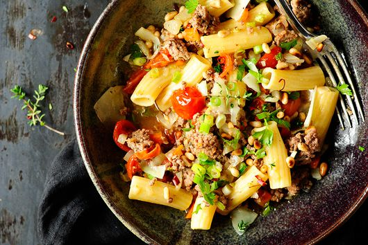Buttery Lamb And Vegetable Pasta