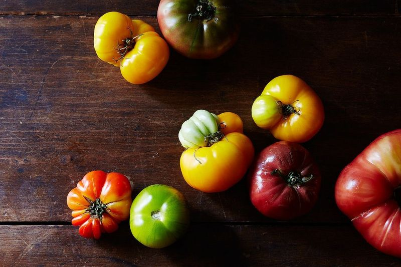 "On heirloom tomatoes: ""Once all of our tomatoes were like that. […] Now everything tastes like nothing."""