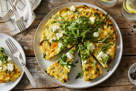 Smashed Potato & Ramp Frittata