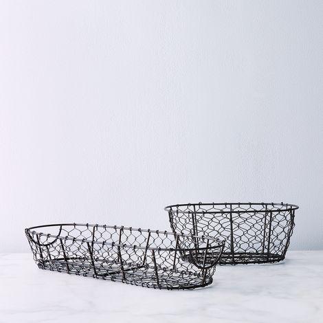 French Farmhouse Mesh Bread Basket