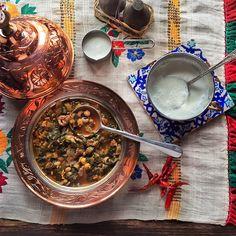 BORANi ( Minced Meat Stew with Chard & Black-eyed Peas