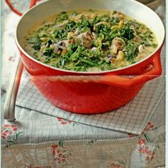 Sausage, Kale and Flageolets