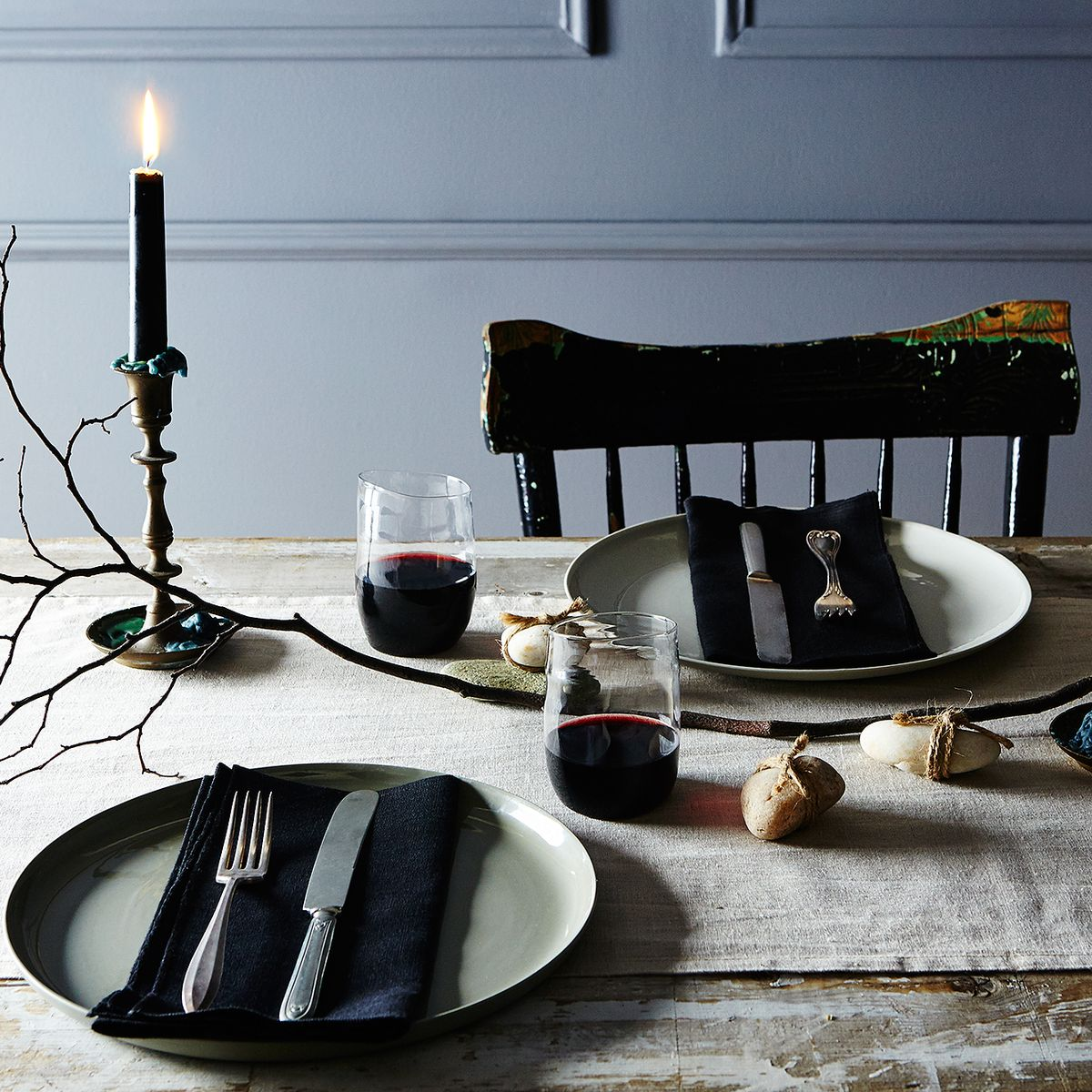 Recipe For A Slightly Spooky Very Easy Halloween Table Setting