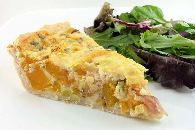 recipe: butternut squash crust quiche [38]