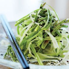 Sea Bean Salad with Daikon and Cucumber