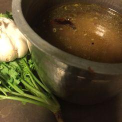 South Indian Garlic Soup (Rasam)