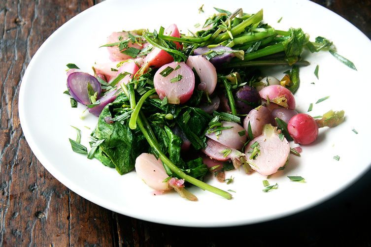 Pan-Braised Radishes and Greens on Food52