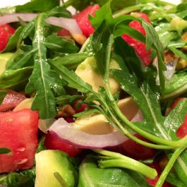 Arugula Watermelon Salad with  Citrus Vinaigrette