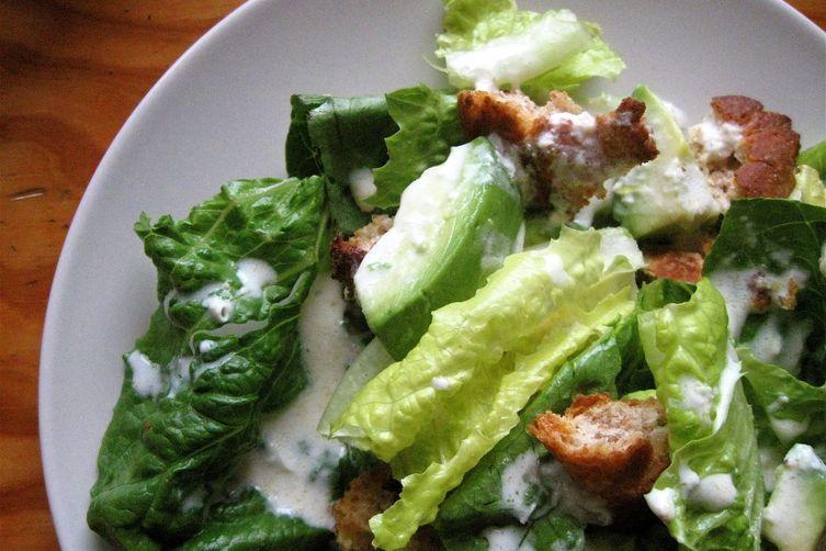 lemon yogurt caesar salad
