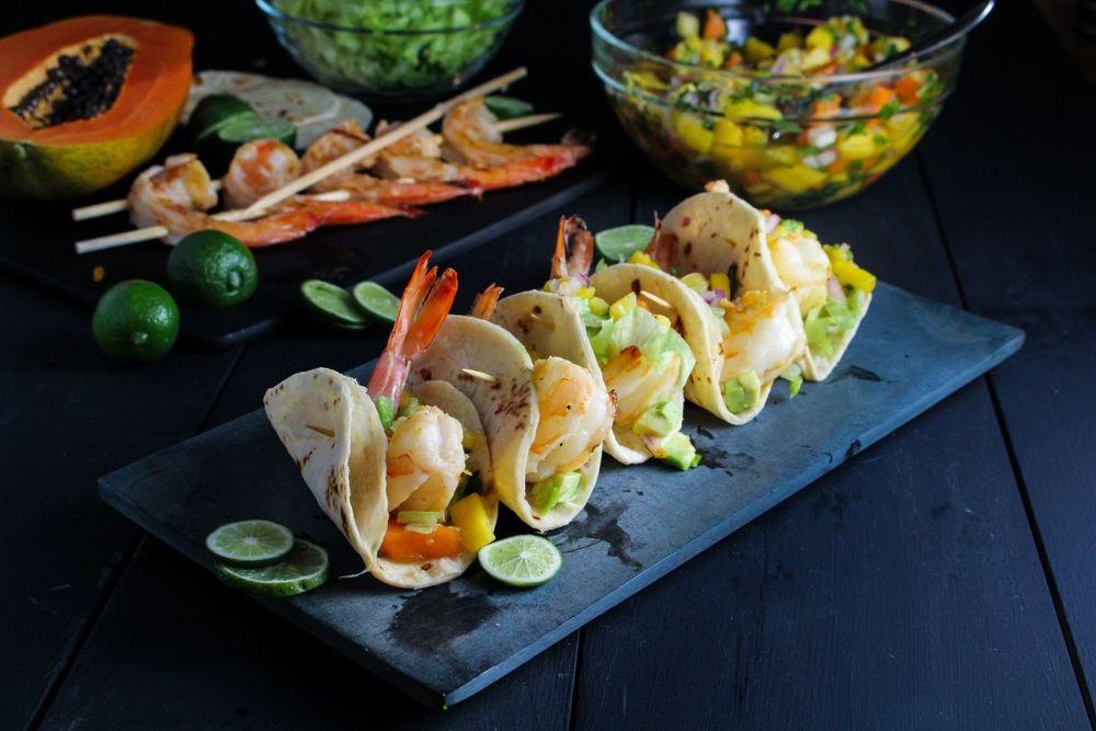 Rum-Glazed Shrimp Tacos