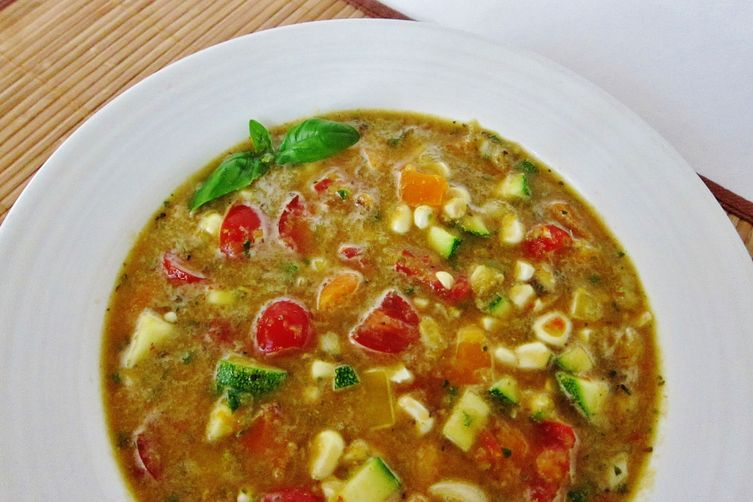 Raw Summer Vegetable Soup