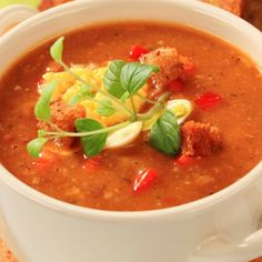 Sweet Potato and Roasted Red Pepper Soup
