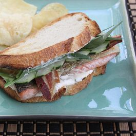 Herbed Salmon Bacon Sandwich