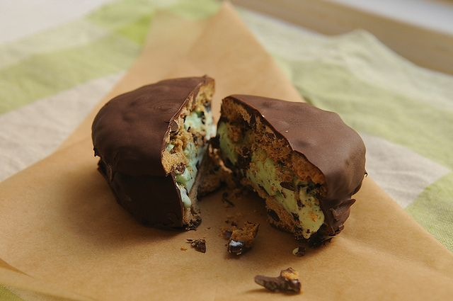 Chocolate Dipped Ice Cream Sandwiches