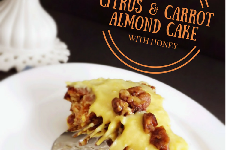 Citrus Carrot Almond Cake with Honey